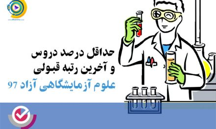 حداقل درصد دروس و آخرین رتبه قبولی علوم آزمایشگاهی آزاد 98